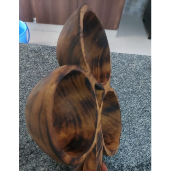 Wooden 3 Side Alkaline Vegan Fruit Bowel From Kenya