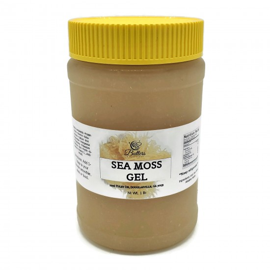Sea Moss Gel- Made with wild-crafted sun-dried sea moss from St. Lucia. 12 oz