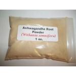 Ashwagandha root powder (Withania somnifera) 1 oz.
