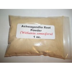Ashwagandha root powder (Withania somnifera) 1 oz.