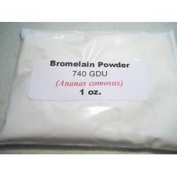 1 oz. Bromelain Powder 740 GDU (Ananas comosus)