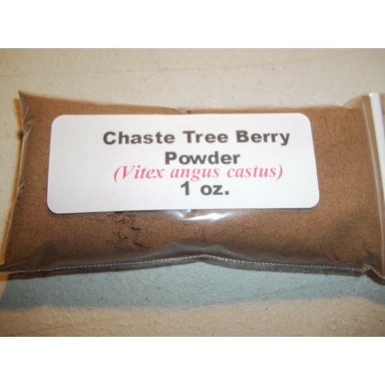 1 oz. Chaste Tree (Vitex) Berry Powder (Vitex agnus castus)