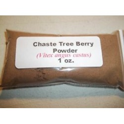 1 oz. Chaste Tree (Vitex) Berry Powder (Vitex agnus castus)