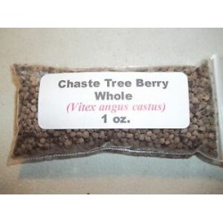 1 oz. Chaste Tree (Vitex) Berry Whole (Vitex agnus castus)