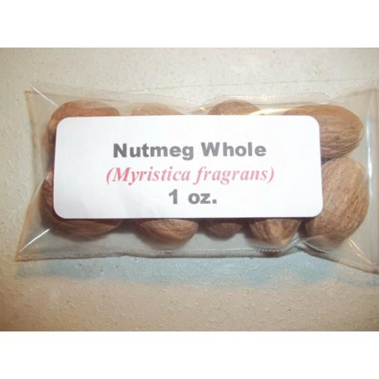 Nutmeg Whole (Myristica fragrans) 1 oz.