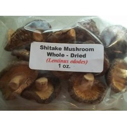1 oz. Shitake Mushroom Whole - Dried (Lentinus edodes)