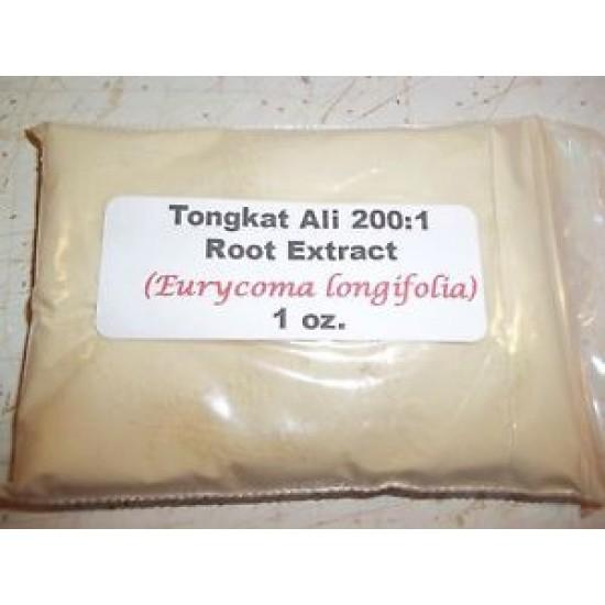 Tongkat Ali 200:1 Root Extract Powder 1 oz.  Erectile Dysfunction and Low Libido