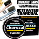 100% Organic Coconut Activated Charcoal Teeth Whitening Powder With Toothbrushes- NATURAL WHITENING AND STAINS REMOVER
