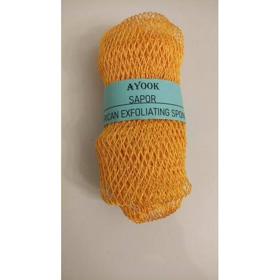 """African Exfoliating Net Sponge 40"""" Long- Improves circulation and prevents back acne."""