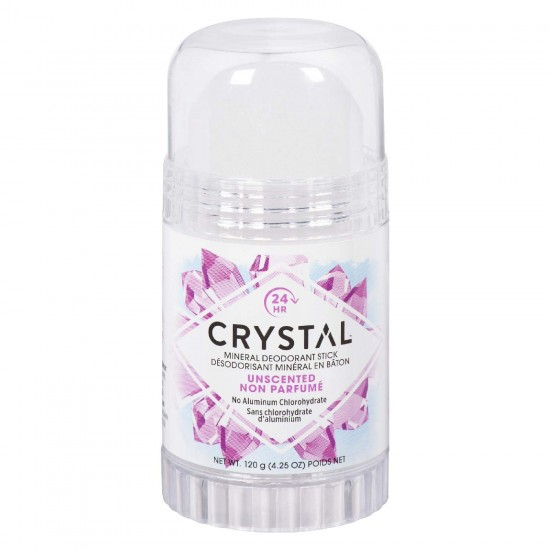 Mineral  Salt Deodorant Roll On Stick, Unscented, - Vegan No Aluminum Chloride/Chlorohydrate/ Zirconium,   4.25 oz