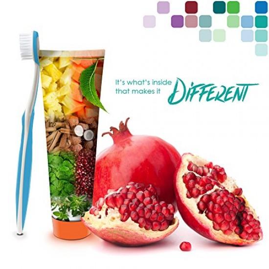 2 Himalaya Botanique Neem & Pomegranate Toothpaste, Original Formula for Brighter Teeth and Fresh Breath- 5.29 oz