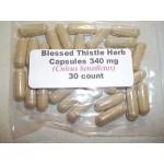 Blessed Thistle Herb Capsules (Centaurea benedicta) 340 mg   30 count