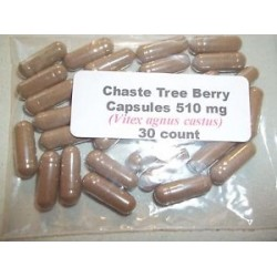 Chaste Tree (Vitex) Berry Powder Capsules (Vitex agnus castus) 510 mg - 30 count