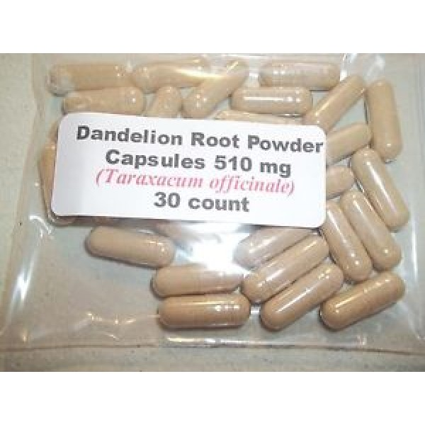 Dandelion Root Powder Capsules (Taraxacum officinale) 510 mg - 30 Count