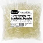EMPTY VEGETARIAN CAPSULES SIZE 00-000 BULK Kosher Halal Qty 1000 Vegan Quality