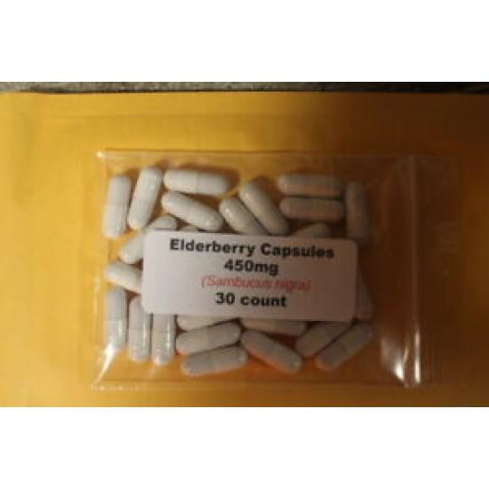 Elderberry Powder Capsules (Sambucus nigra) 450mg - 30 count