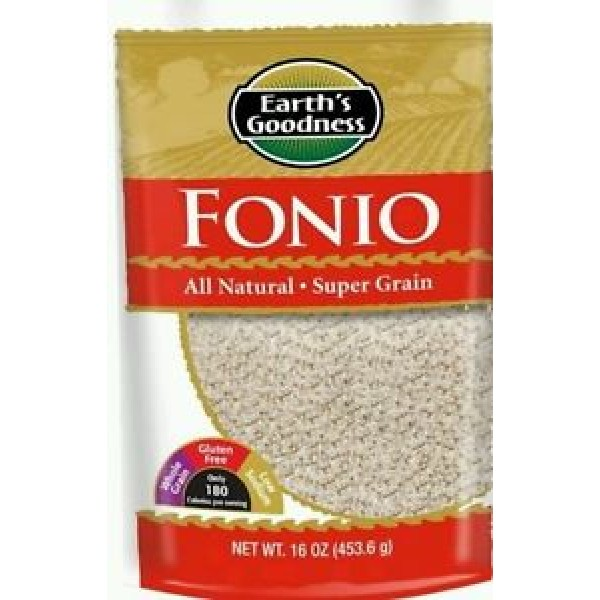 All Natural Fonio Ancient African Super Food Alkaline Vegan -Grown in West Africa (Case of 6)