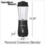 Hamilton Beach Travel  Blender with Lid, Single Serve,