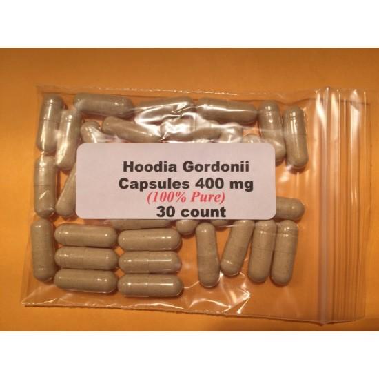 Hoodia Gordonii Capsules (100% Pure)  400mg   30 count