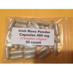 Sea Moss Irish Moss  Powder Capsules 400 mg.  30 Count