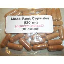 Maca Root Powder Capsules (Lepidum mayenil) 620 mg.  30 count