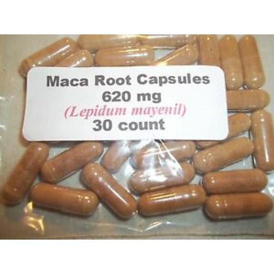 Maca Root Powder Capsules (Lepidum mayenil) 620 mg.  30 count