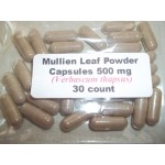 Mullein Leaf Powder Capsules (Verbascum Thapsus) 500 mg. - 30 Count