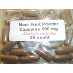 Noni Fruit Powder Capsules (Morinda citrifolia) 500 mg - 30 Count