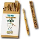 Toothbrush Natural Bamboo Toothbrush BPA Free Bristles, Pack of 4