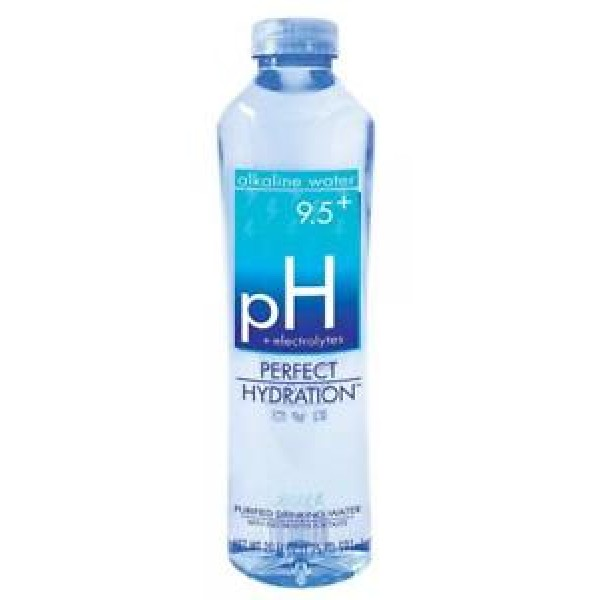 Perfect Hydration Alkaline Electrolyte Enhanced Water, 9.5+ pH | | No Added Sodium, Chlorine, Fluorine, 20 fl. Oz. (24 Pack)