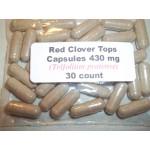 Red Clover Tops Powder Capsules (Trifolium pratense) 430 mg.  30 Count