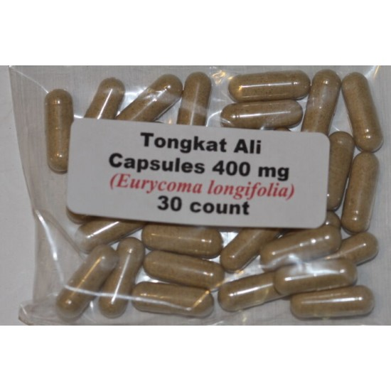 Tongkat Ali Root Powder Capsules Indonesia Longjack 30 count Erectile Dysfunction and Low Libido