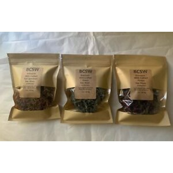 Sea Moss WILDCRAFTED Gift Pack of 3 - Eucheuma type - St Lucia 3 oz