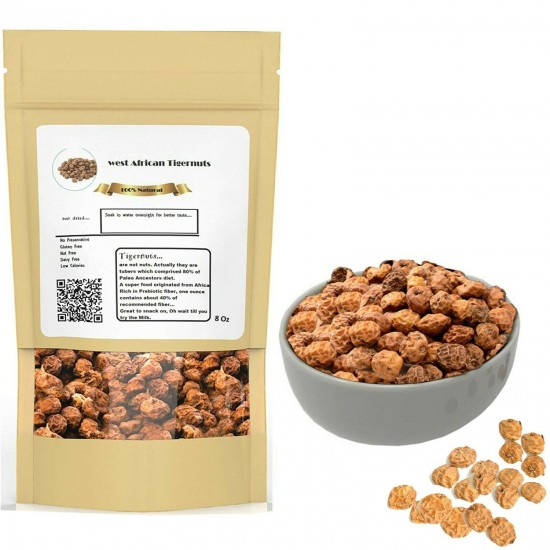 Tiger Nuts From West Africa Organic Raw Tiger nut Sun Dried 12 oz