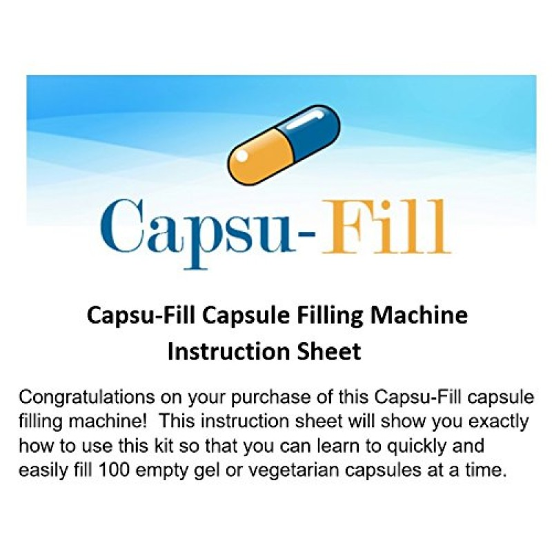 Capsu Fill Capsule Holder And Filling Machine Kit For 100