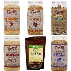 Dr. Sebi Approved Grains Combo Package-  Organic-Kamut, Amaranth, Quinoa, Spelt, Wild & Brown Rice-Mix- Starch/Gluten Free
