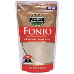 Fonio All Natural  Ancient African Super Food Alkaline Vegan -Grown in West Africa (Case of 6)