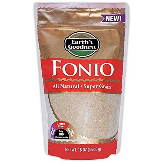 Fonio All Natural  Ancient African Super Food Alkaline Vegan -Grown in West Africa (Case of 4)