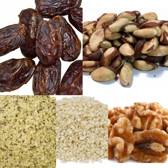 Alkaline Nuts & Seeds To Make Organic Milk, Just Add Water & Blend  (Combo Package 12oz Each) Dr. Sebi Approved