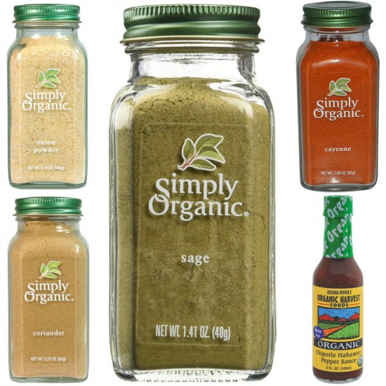 Dr. Sebi Approved Alkaline Spicy Flavors Combo Package For Cooking Cayenne, Coriander, Habanero, Onion Powder, Sage